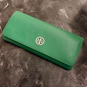 Tory Burch Wallet in Emerald Green